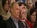 Владимир Путин посетил рождественскую службу в Симеоновской